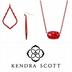 Kendra Scott Matte Red Sophee & Elisa Set